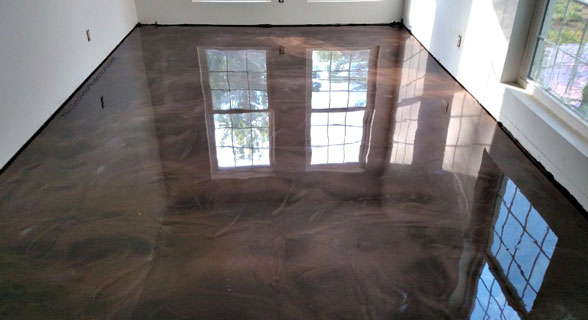 Garage Metallic Epoxy Floor